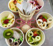 Cách làm kem cuộn Thái Lan độc đáo tại nhà