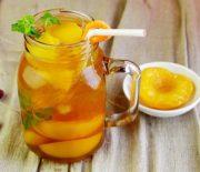 Cách pha hồng trà đào giải nhiệt mùa hè
