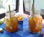 Cách pha trà đào cam sả cực kỳ hấp dẫn